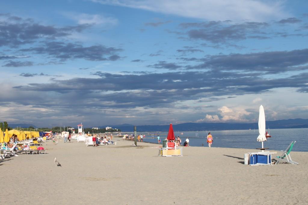 Grado-Strand-Gewitter